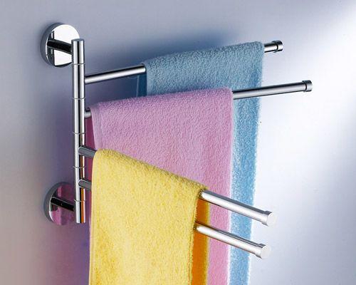 Swivel Towel Rack Bar 5094 Quadruple Swing Arm Chrome