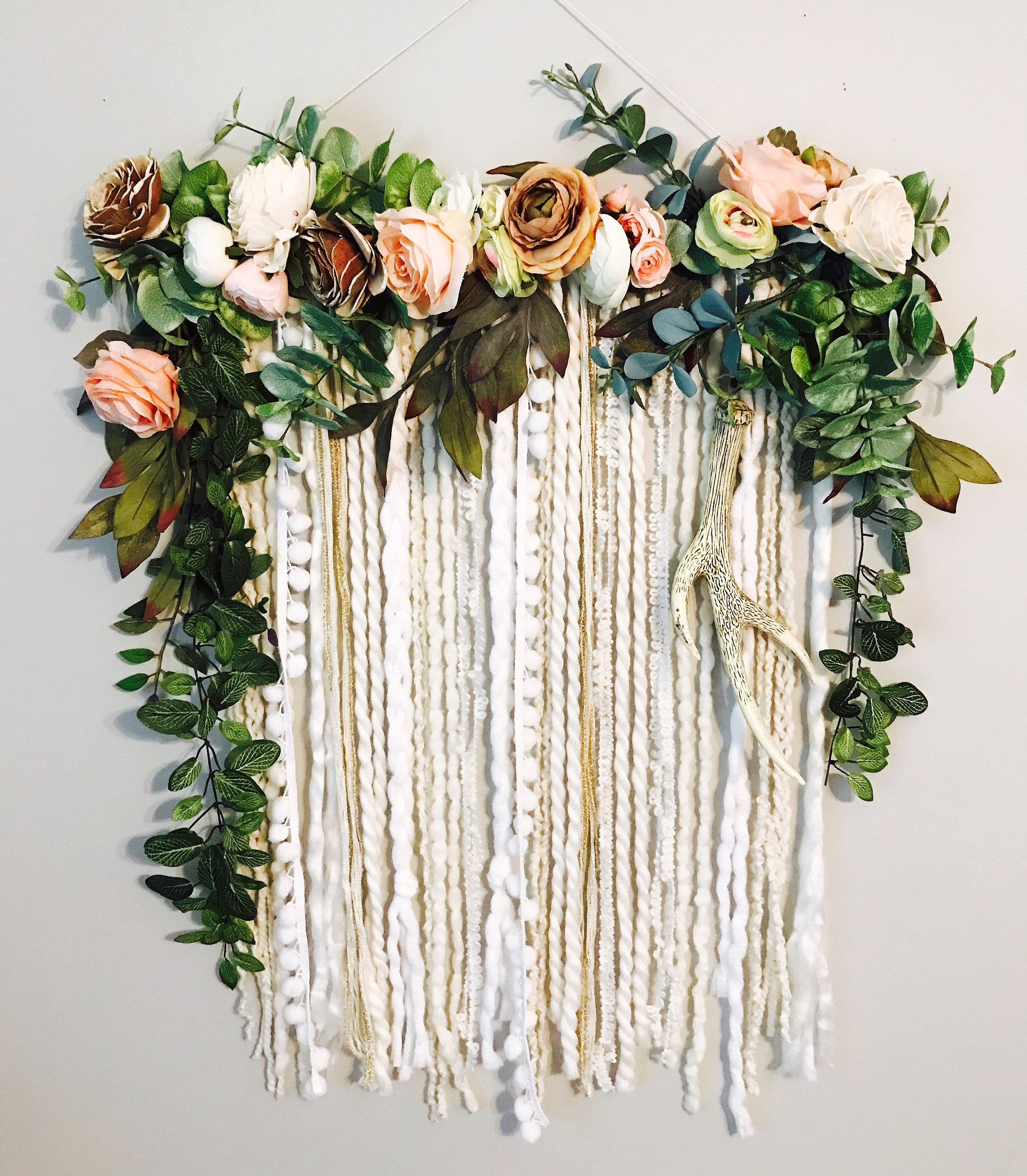 Wall Hanging Floral Wall Hanging Flower Wall Art Wall