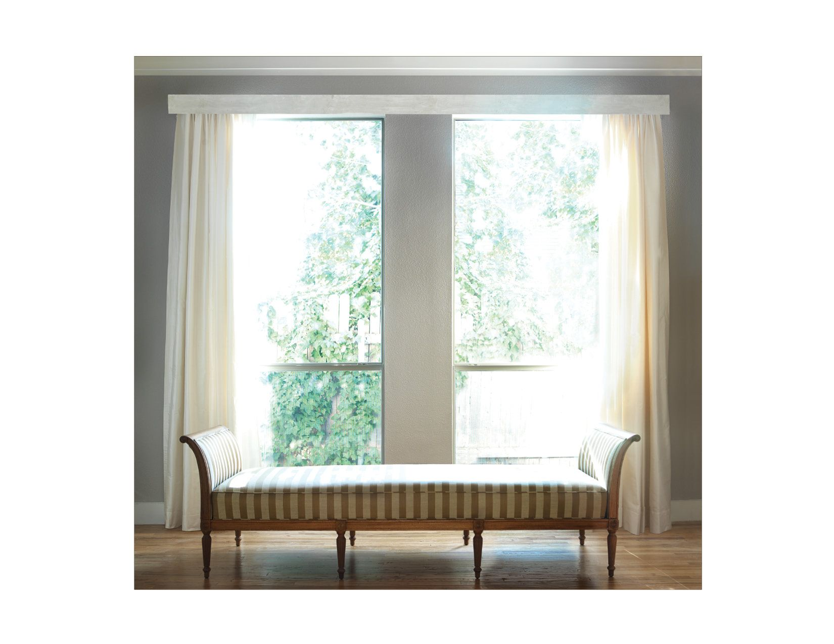 Traverse curtains and rods - Clean And Crisp As A Facia Above Blinds Or With Rods