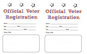 Official Voter Registration  Preschool Holidays
