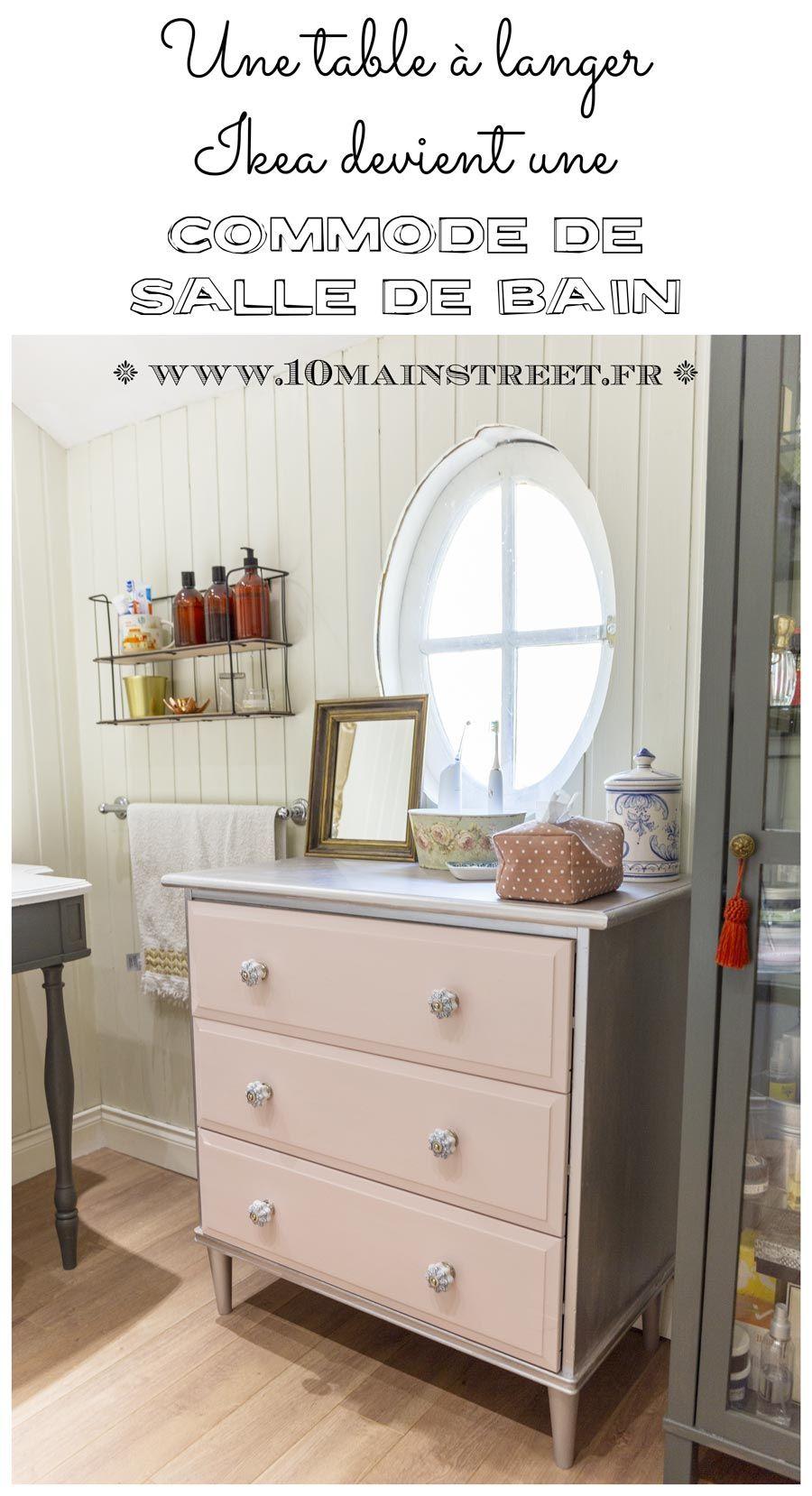 Une table à langer Ikea transformée en commode de salle de bain