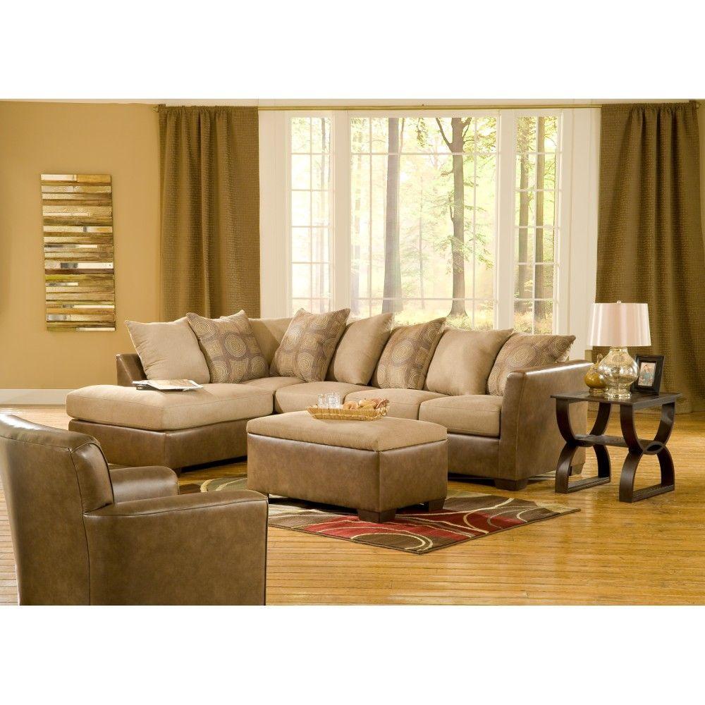 Best Harriston Sectional Sofa Piece Two Tone Taupe 4200Taurafsofa Conn S Sectional Sofa 400 x 300