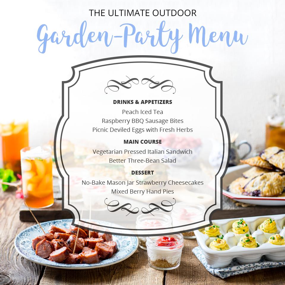 The Ultimate Outdoor Garden Party Menu For Summer Entertaining