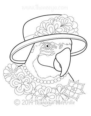 Dapper Animals Coloring Book By Thaneeya Mcardle Animal Coloring Books Coloring Books Bird Coloring Pages