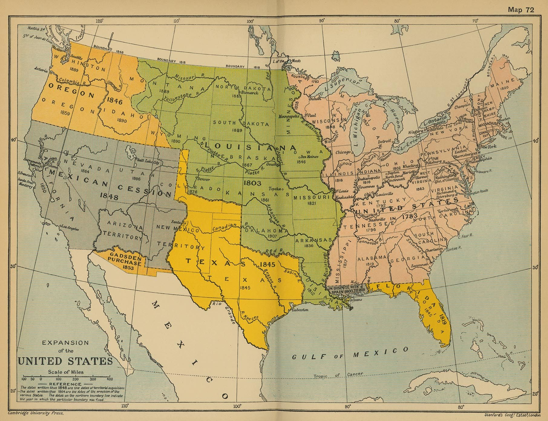 Expansion Of The United States History Primary Secondary - Historical-us-maps