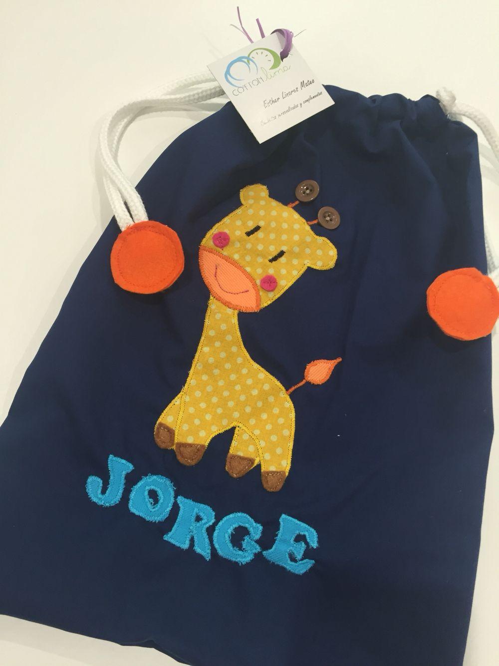 Bolsa de merienda personalizada #bolsa #merienda #niños #kids #bag #facebookcottonlima