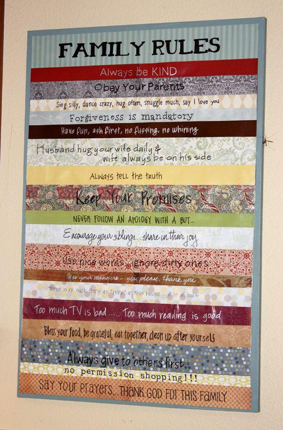 Family Rules canvas from @jeannettg