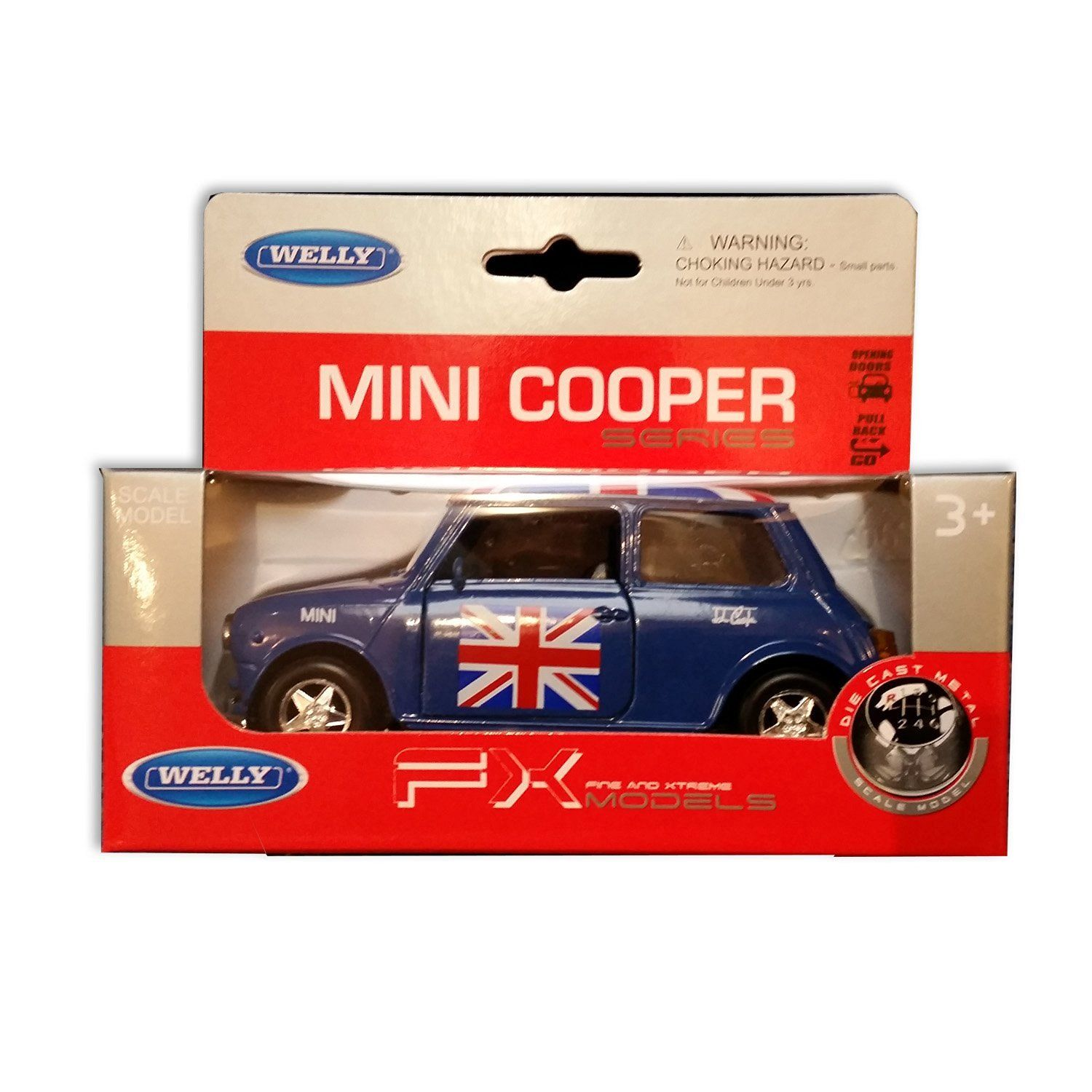 Detailed Blue Welly Brand Diecast Metal BMW Mini Cooper
