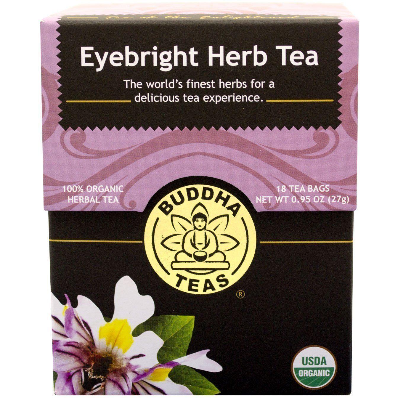 Buddha Teas Eyebright Herb Tea Organic Herbal Tea