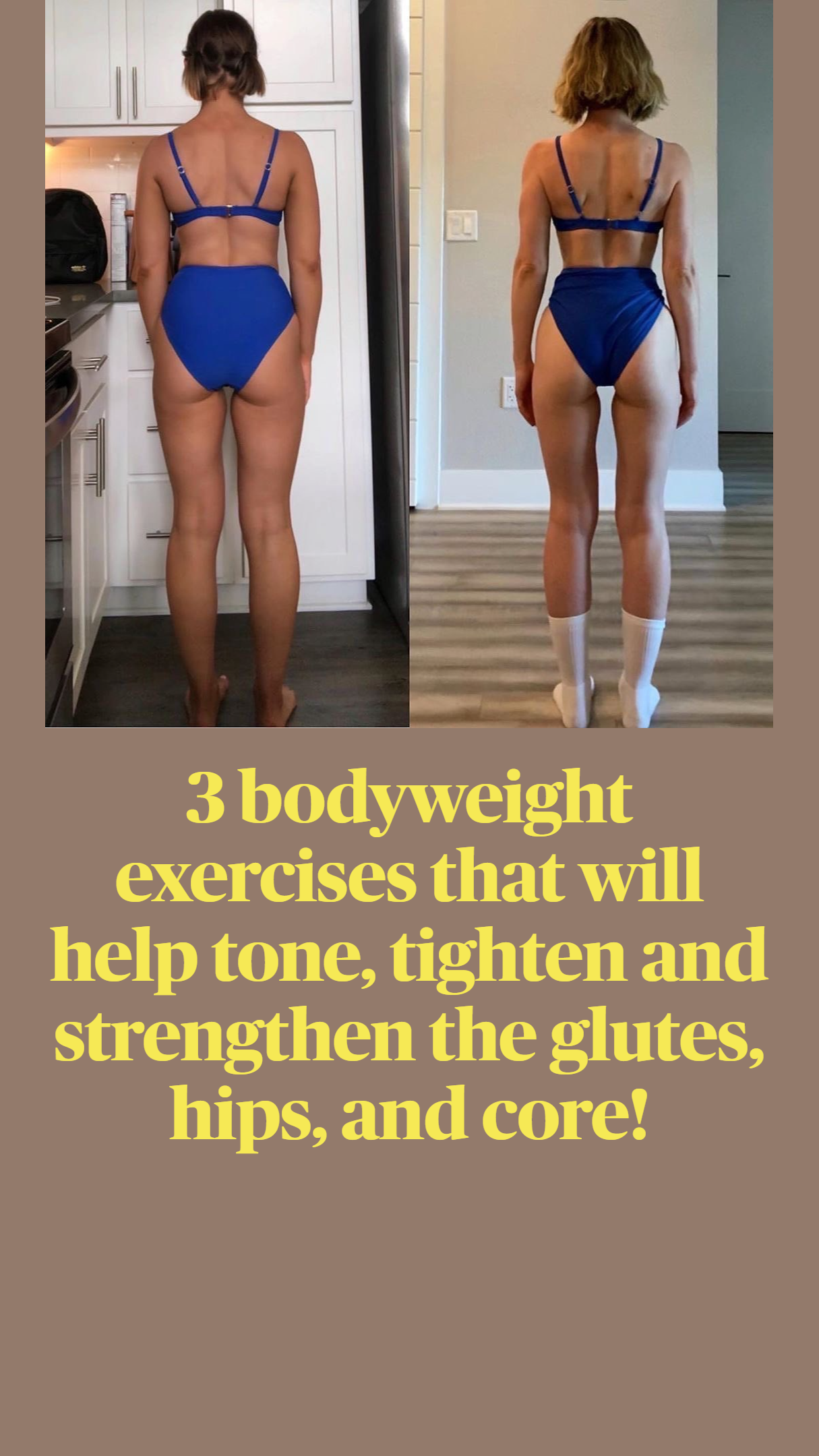 3 bodyweight exercises that will help tone, tighte