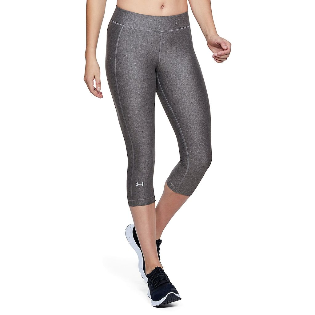 Women S Under Armour Heatgear Capri Leggings Size Xxl Grey Charcoal Under Armour Women High Waisted Capri Leggings Capri Leggings