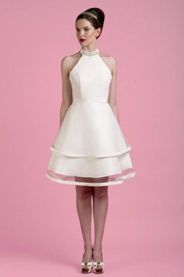 buy popular 3025e db436 Vestito da sposa corto con gonna a campana   Vintage wedding ...