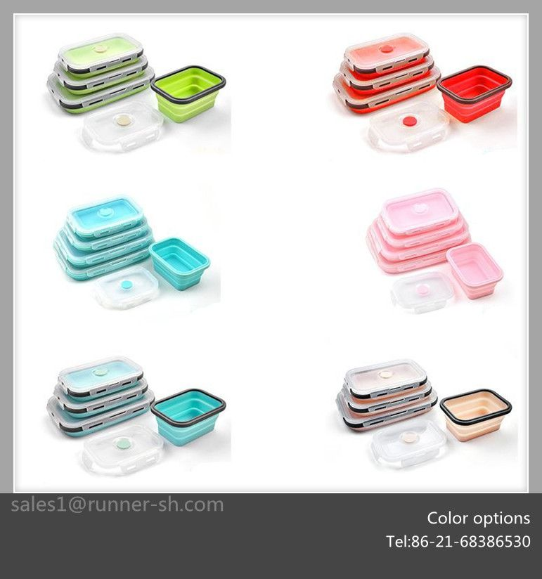 Which Utensils Can Be Used In Microwave Oven: Silicone Food Container 6colors For Selecting. Can Be Used