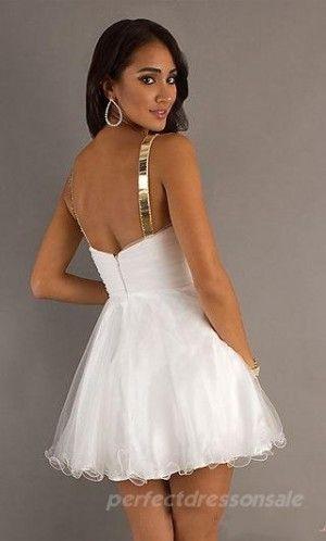 Short White Prom Dresses Natural Baby doll Prom Dresses 04433 | Prom ...