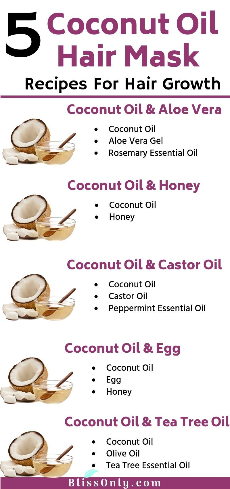 5 Best Coconut Oil Hair Mask For Hair Growth - BlissOnly
