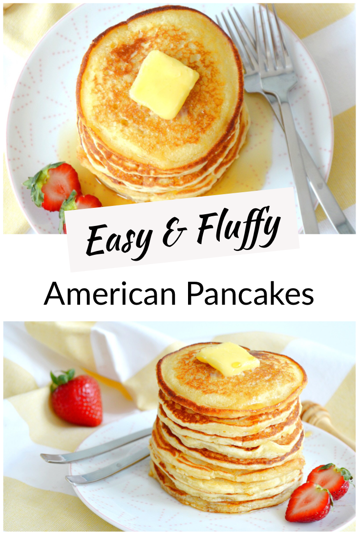 Easy Fluffy American Pancakes Del S Cooking Twist Recipe In 2021 American Pancakes Easy American Pancakes Breakfast Recipes Easy