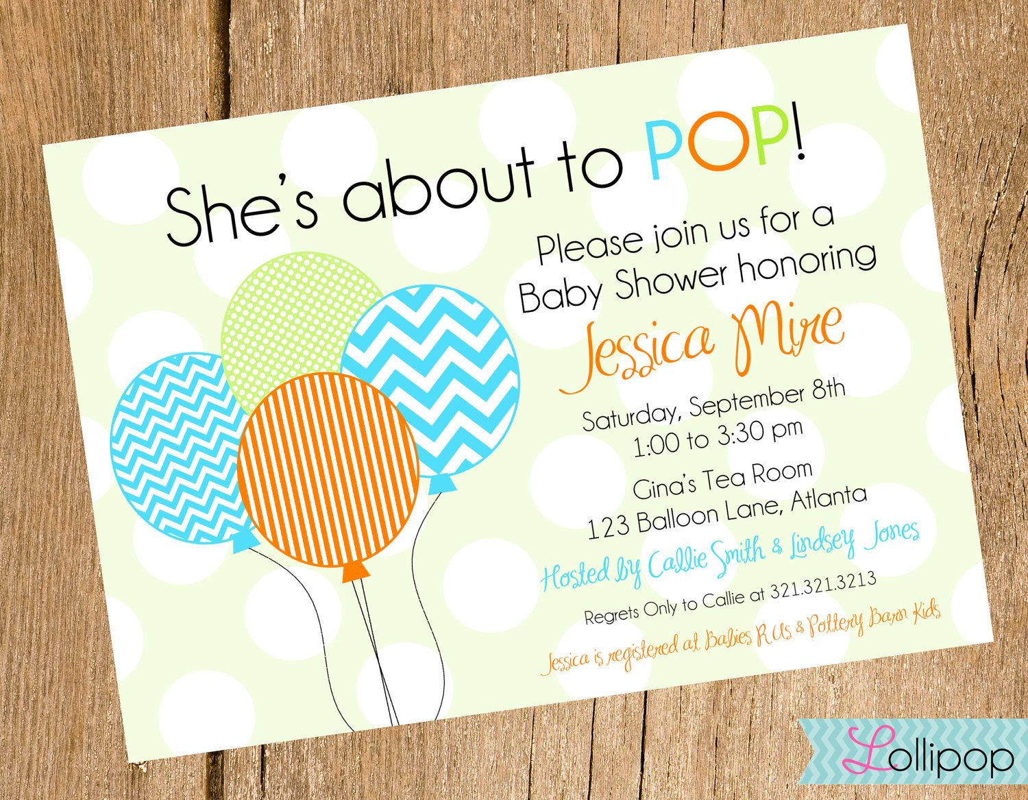 Shes About to POP Baby Shower Printable Invitation, Personalized ...