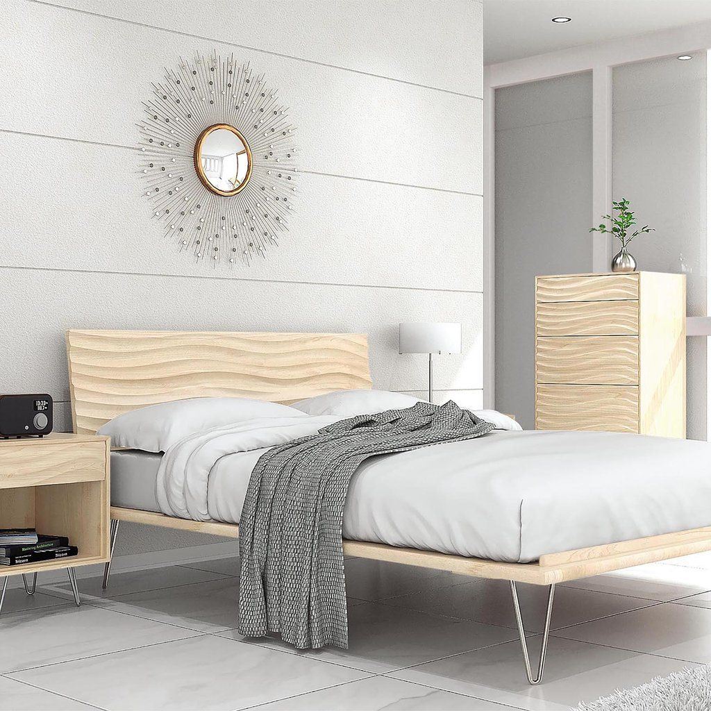 Wave Bed With Metal Legs   Minimalist bed frame, Legs and Minimalist bed