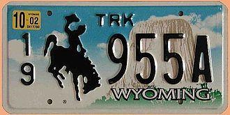 US-Nummernschild Wyoming Devils Mountain - original - Hausnummern und Schilder online kaufen