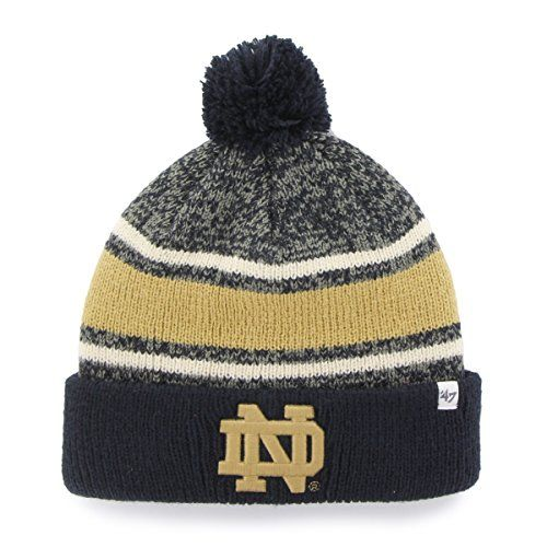 NCAA Notre Dame Fighting Irish 47 Fairfax Cuff Knit Hat with Pom One Size  Fits Most Navy    Check out this great product. e14ee6a45225