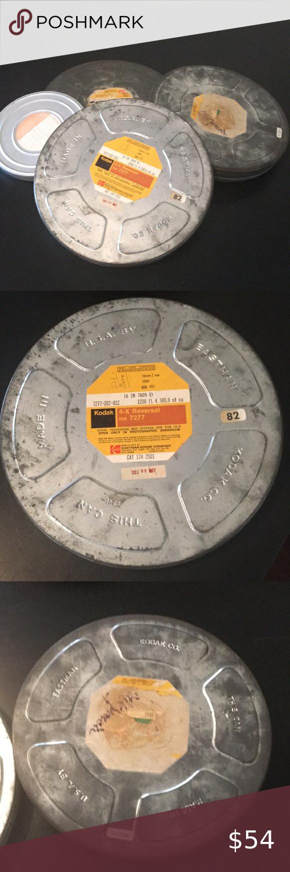 Vintage Movie Reel Canisters Set Of 4 Vintage Movies Vintage Movie Stars Movie Reels