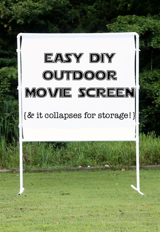 Have your own outdoor movie night at home with this fun and easy ...