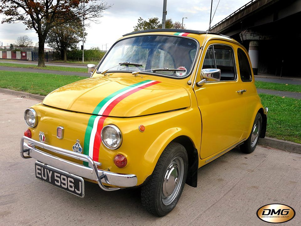 The owner popped in to buy Jaguar parts for his own Jag, but drove in to the David Manners Group in his wife's 1970 Fiat 500L.