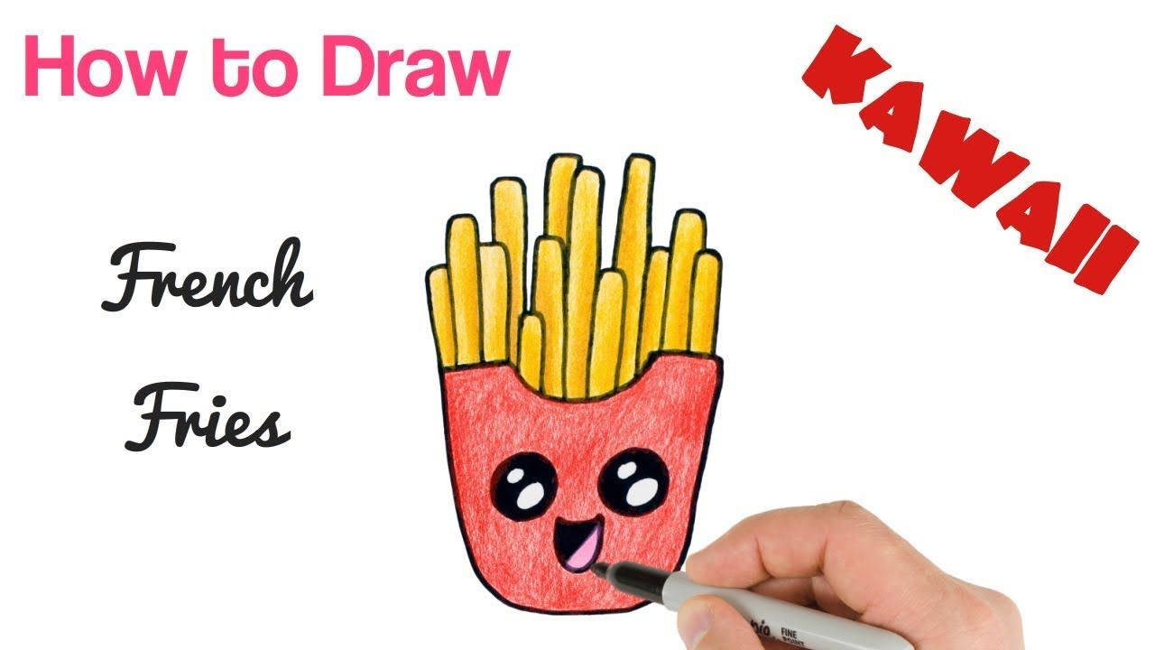 How To Draw Cute French Fries Cute Drawings Drawings Kawaii