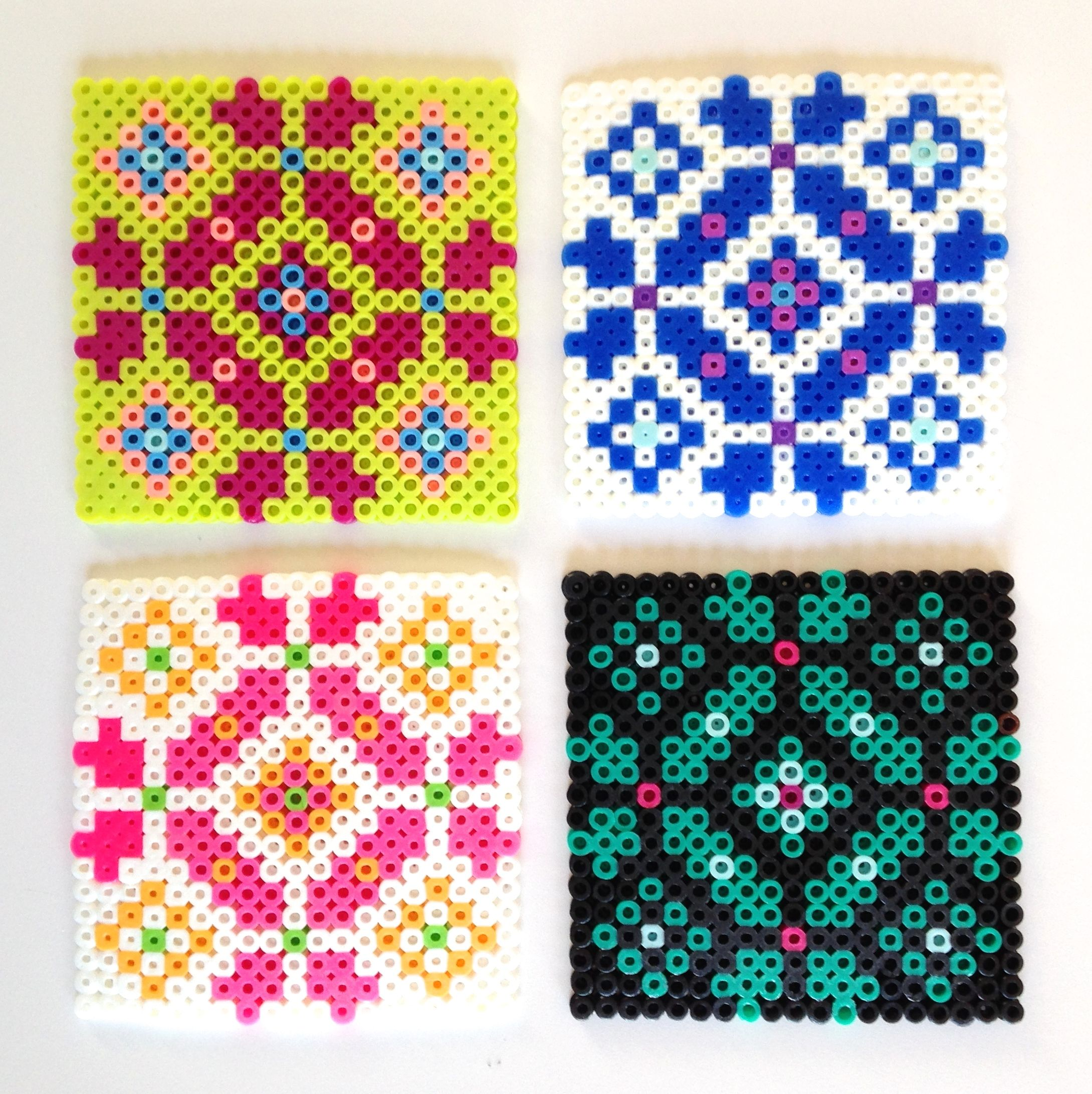 Buegelperlen Vorlagen Yin Und Yang Hama Bead Coasters/ Scandi Pattern By Homemade City