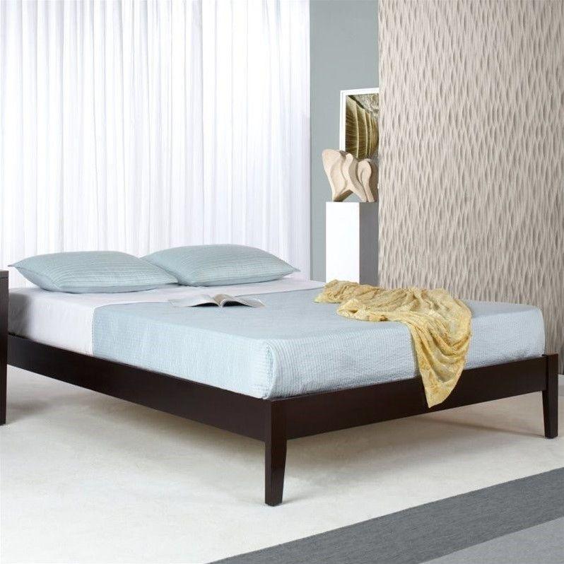 Lowest Price Online On All Modus Furniture Nevis Simple Platform Bed In Espresso Sp23fx
