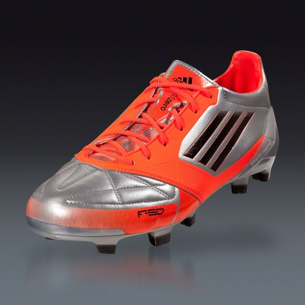 purchase cheap cc476 2d1ce adidas F50 adizero TRX FG (Leather) - Metsilver Infrared Black Firm Ground  Soccer Shoes
