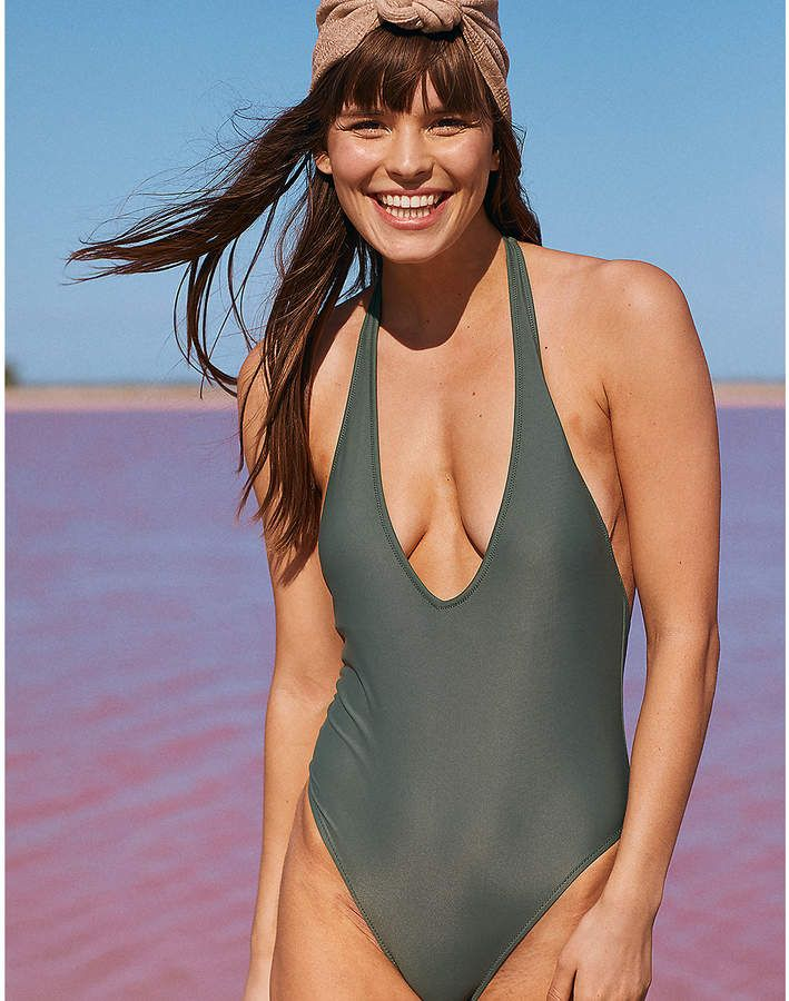 ff36a5dab9 aerie Super Plunge One Piece Swimsuit