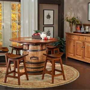 Jack Daniels Whiskey Barrel Table And