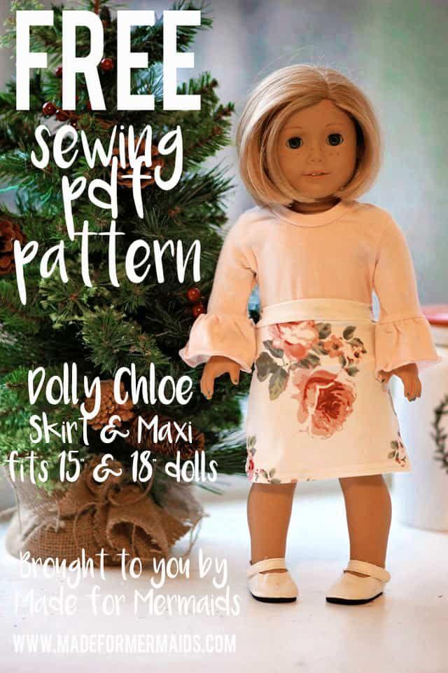 FREE Dolly Chloe Skirt & Maxi | Doll Clothes | Pinterest | Nähe