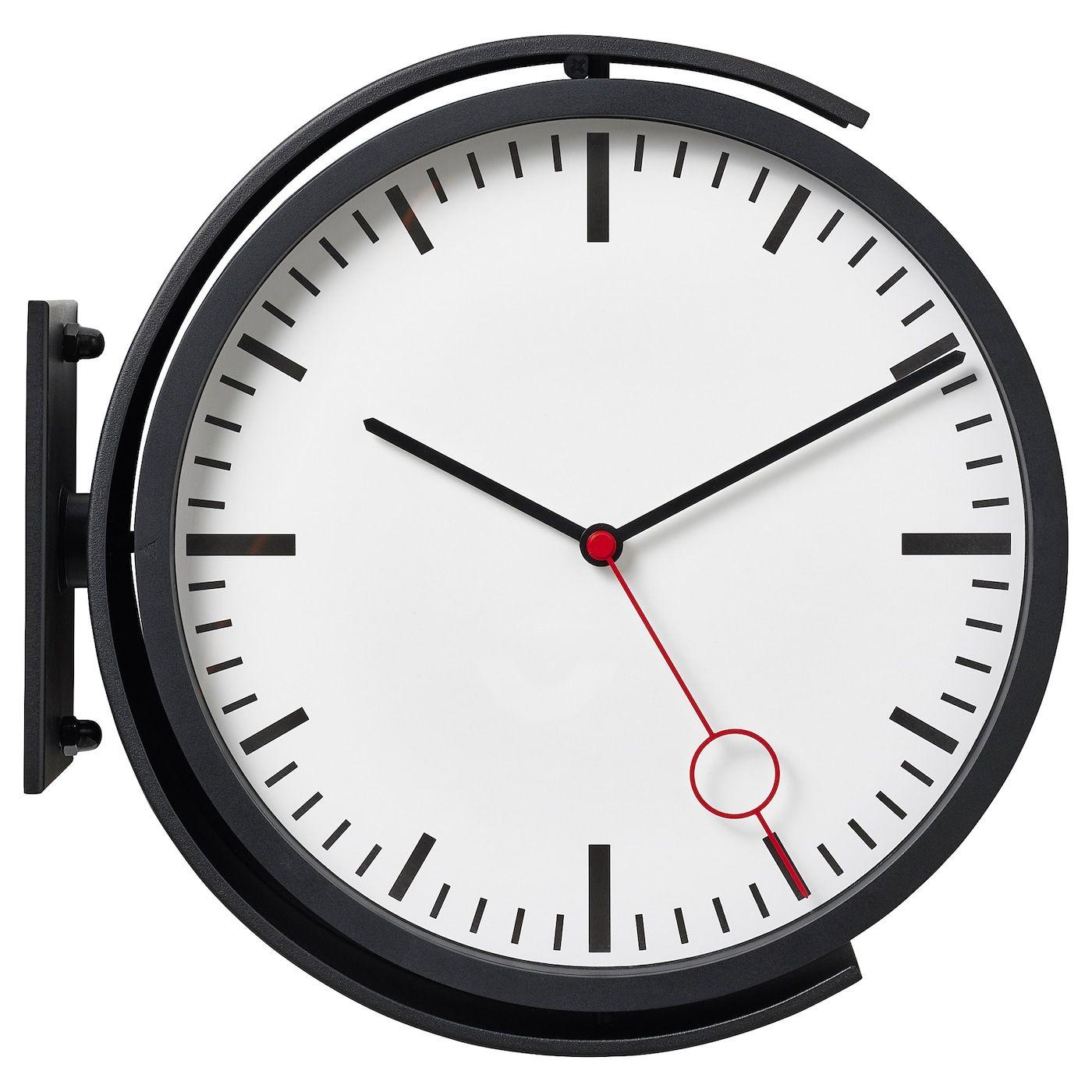 Bissing Wall Clock Black 11 Ikea In 2021 Wall Clock Black Wall Clock Clock