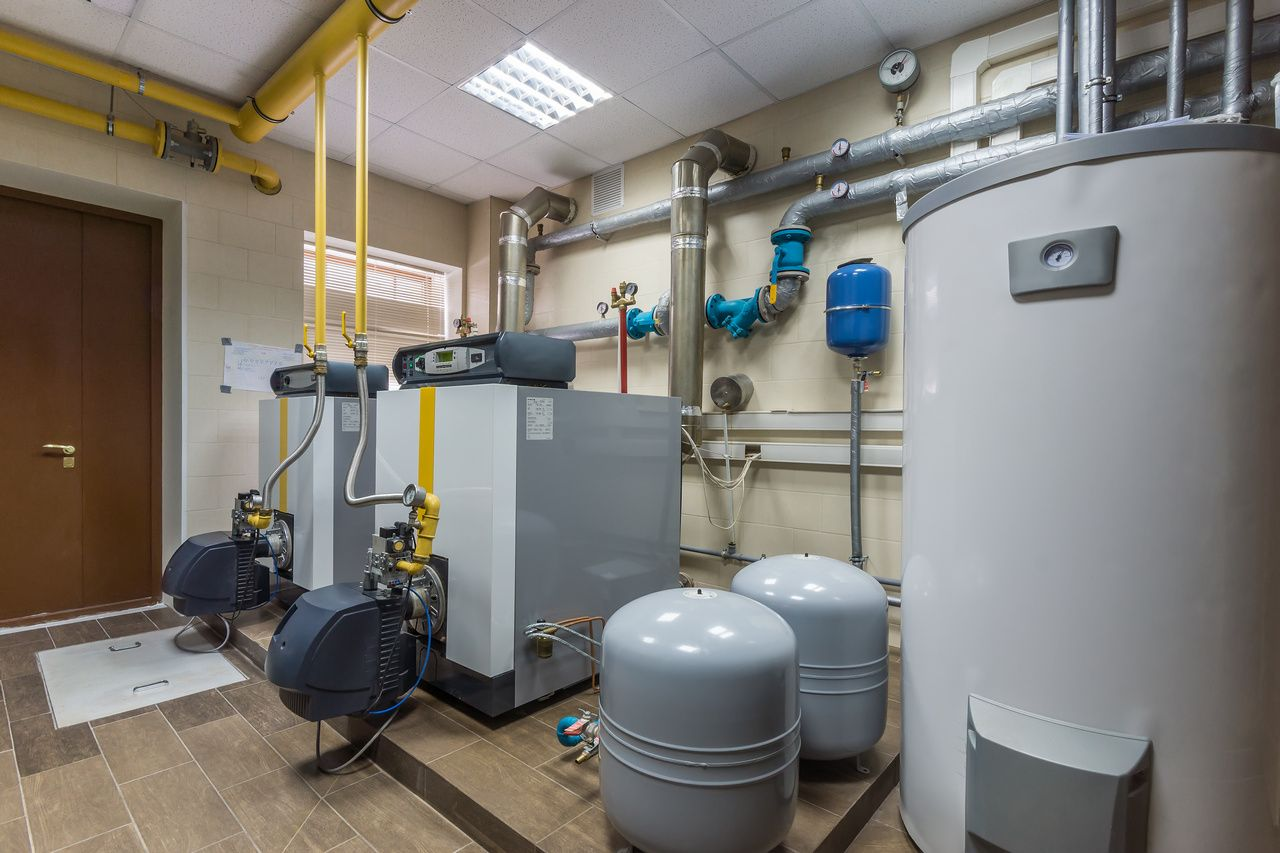 Commercial Furnace Room In Detroit Commercial Plumbing Furnace