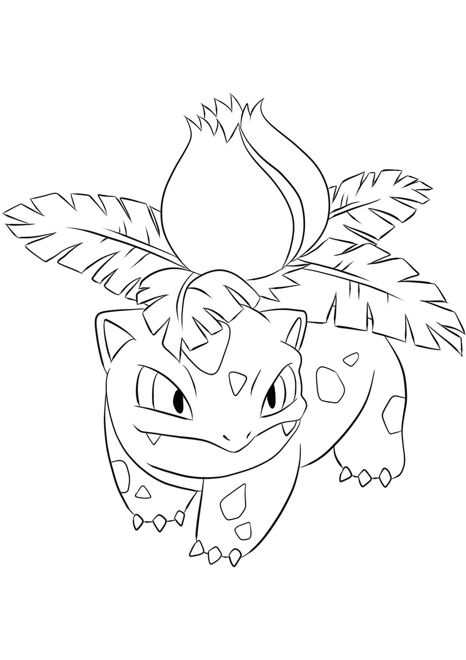 Ivysaur Outline Pokemon Pokemon Art Art