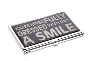 Business Card Holder Never Fully Dressed Without A Smile | eBay