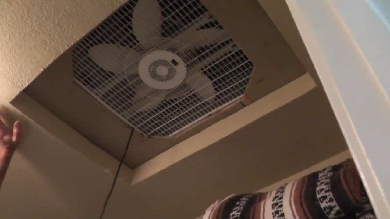 How To Cool Without A C By Building A Cheap Homemade Whole House Fan Whole House Fan House Attic Fan Box Fan