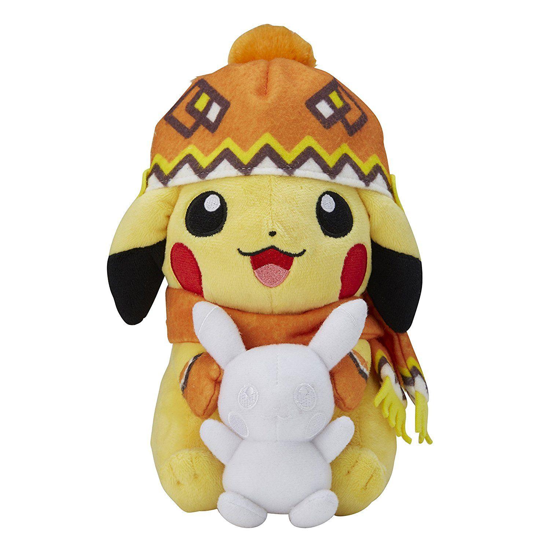 Amazon Com Pokemon Center Original Plush Doll Snow Festival Pikachu Toys Games Arte Peluches