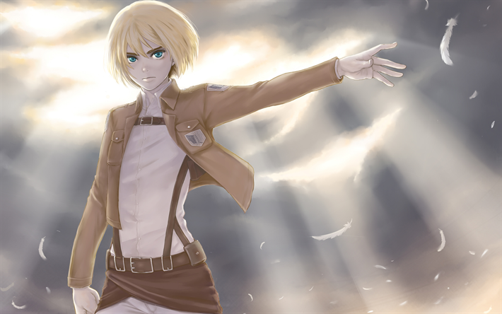 Download wallpapers Armin Arlert, art, anime characters