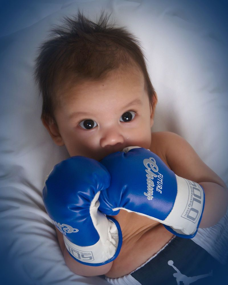 7f4794b8b34ca Wearable Baby Boxing Gloves Champion Infant boxing mittens in Gloves -  Boxing