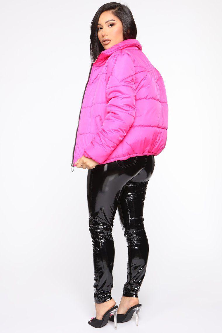 Brighten My Day Puffer Jacket Hot Pink Hot Pink Puffer Jackets Winter Women [ 1140 x 760 Pixel ]