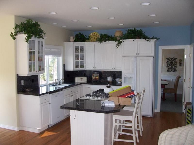 kitchen paint colors white cabinets granite countertops with maple ...