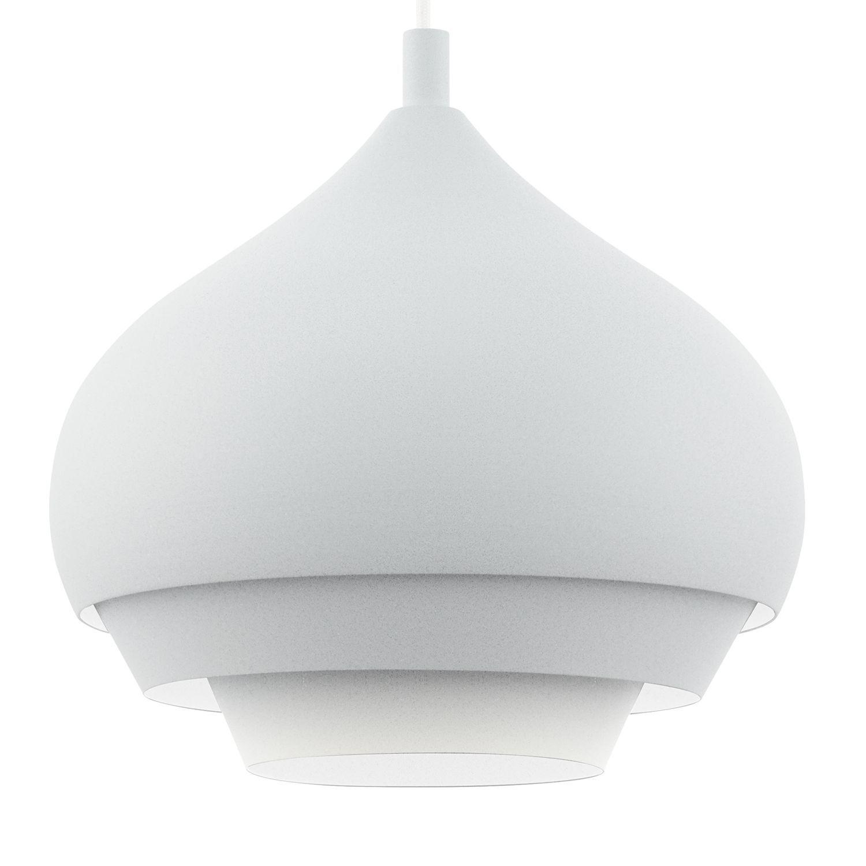 Kronleuchter Ø60cm in Weiß Pendelleuchte Rustikal Decke Hängeleuchte Lampe innen