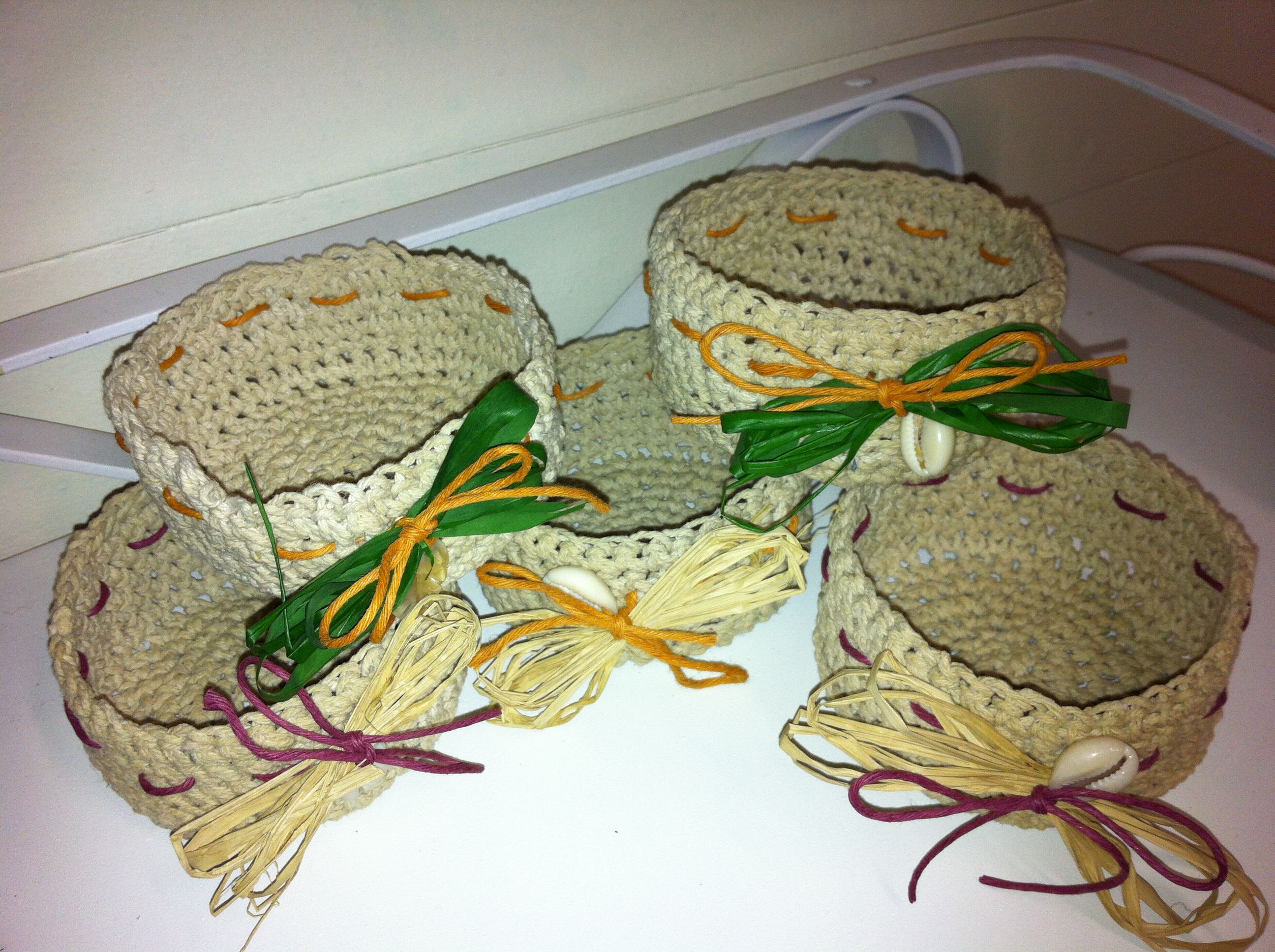 Mini starched baskets