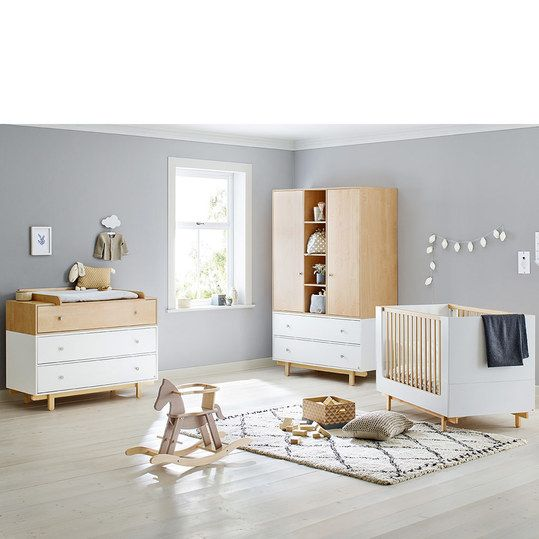 Pinolino Kinderzimmer Boks mit 2türigem Schrank, Bett