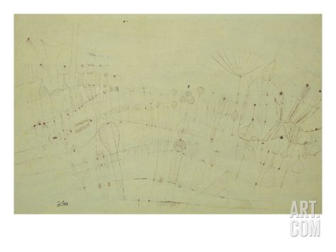 Prehistoric Vegetation; Praehistorische Flora Art Print by Paul Klee at Art.com
