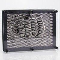 3D Nagelbrett Nagelbild Pinpression Spiel schwarz