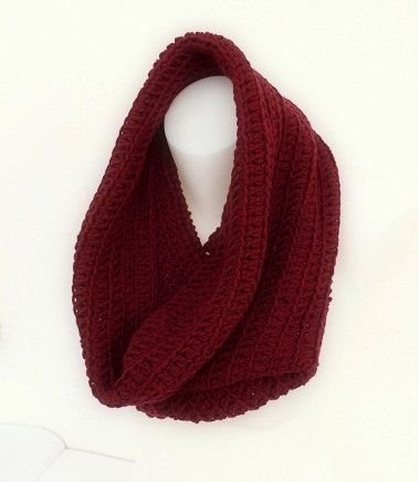 Wool Cowl Scarf  hand crocheted/winter scarf by HelenaSC on Etsy, €18.95
